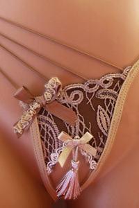 Marquise in Love Divine Ecru Open G-String